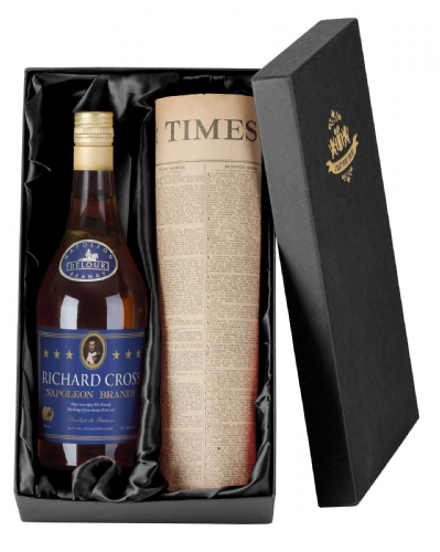 Personalised Brandy and Newspaper Giftpack